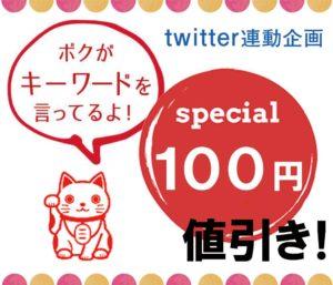 twitter連動企画100円引き